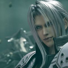Sephiroth during the final battle in Midgar.