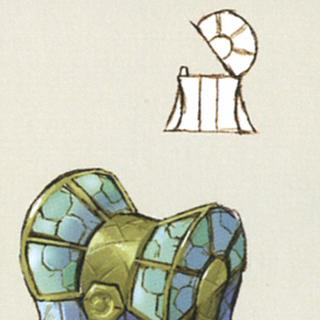 Cofre de tesoro en de <i>The Art of Final Fantasy IX</i>.