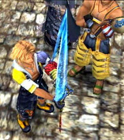 Tidus receiving Brotherhood