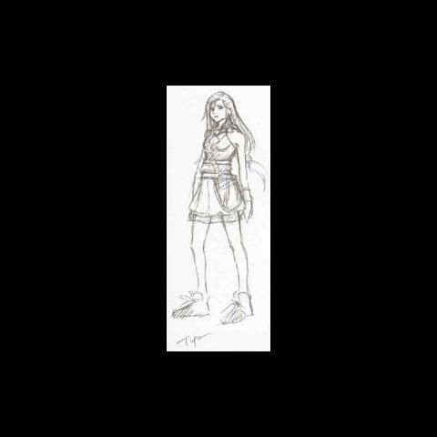 Tifa concept art.