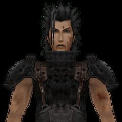 Модель смертельно раненого Зака в <i>Crisis Core -Final Fantasy VII-</i>.