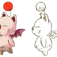 Concept art of a scruffy moogle.