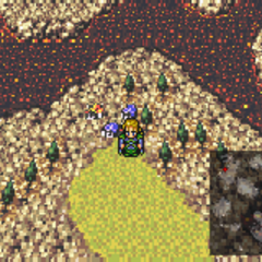 Kohlingen on the World of Ruin map (GBA).