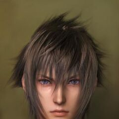 Close-up of Noctis's face.