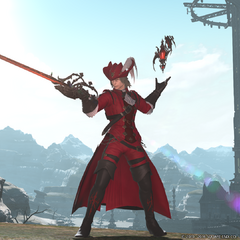 Red Mage's battle stance.