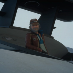 Сид на королевском корабле.