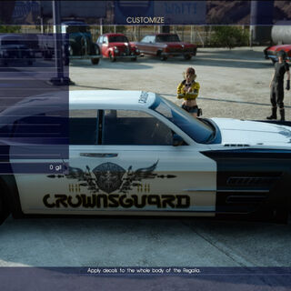 Crownsguard-themed decal for the Regalia.