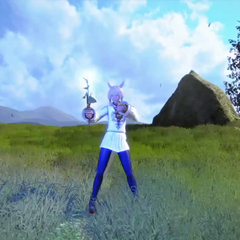 Y'shtola as she appears in the announcement trailer for <i>Dissidia Final Fantasy</i>.