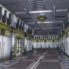 Unused imperial hallway.