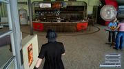 Noct Enters Diner FFXV