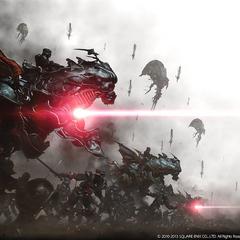Imagen CG de la milicia magitec imperial.