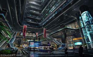 FFVIIR shinra tower ConceptArt