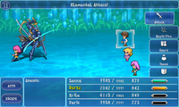 FFV iOS Finisher - Elemental Attack