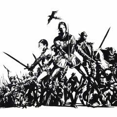 Arte do logo por Yoshitaka Amano.