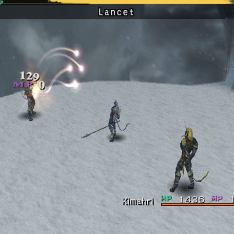 Kimahri using Lancet (PS2).
