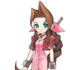 <i>Itadaki Street Portable</i> Aerith artwork.
