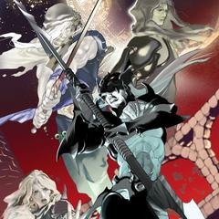 Arte de Kain enfrentando seu lado sombrio feita por Akira Oguro.