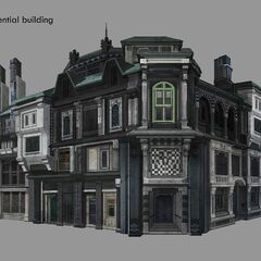 Residential building concept artwork.