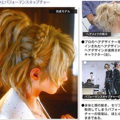 Uma imagem do penteado e a peruca de Luna e a motion capture (captura de movimentos).
