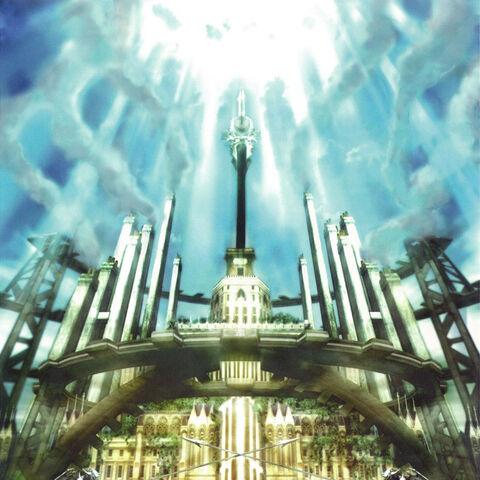 Poster for <i>Final Fantasy Agito XIII</i> showing Akademeia.