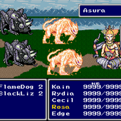 Asura summoned in <i>Final Fantasy IV</i> (SNES).