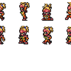 Set of Rikku's Wardrobe Record sprites.
