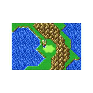 The village of Crescent on Bartz's World (GBA).