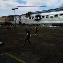 Поезд получает повреждения в ходе имперской атаки.