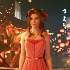 Aerith's second Wall Market dress.