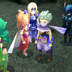 Edge joins the party in <i>Final Fantasy IV</i> (DS/iOS).