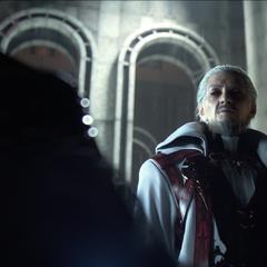 Ранний вариант Йедоласа в разговоре с Ардином Изунией (трейлер для E3 2013).
