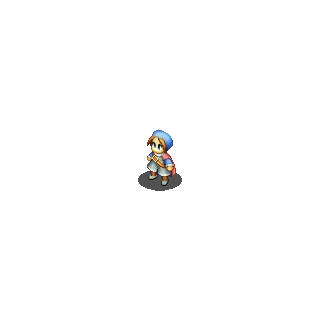 Hume Soldier sprite in<i>Final Fantasy Tactics S</i>.