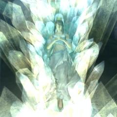 Лукреция, заключенная в кристалл в <i>Dirge of Cerberus -Final Fantasy VII-</i>.