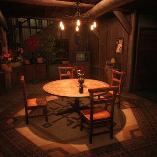 Interior of Aerith's house.