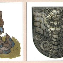 Concept art of the statues.