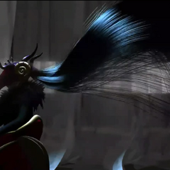 Edea's long hair disappears.