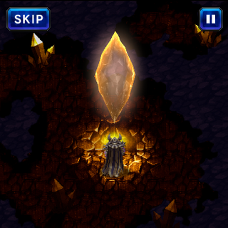 The Earth Crystal at the innermost chamber, and Veritas of the Dark.