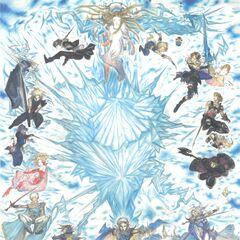 Лайтнинг на постере к 25-летию <i>Final Fantasy</i>.