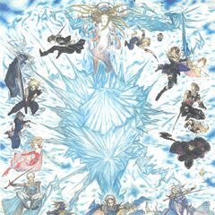 Firion in the 25th Anniversary Poster of <i>Final Fantasy</i>.