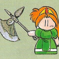 Artwork of Kaeli with the Axe.