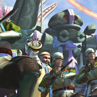 Kinoc in a <i>Final Fantasy X</i> FMV.