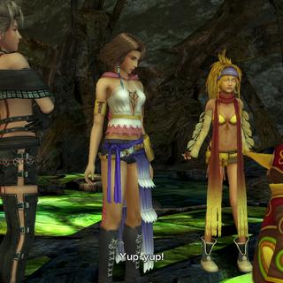 Rikku copying Tobli.