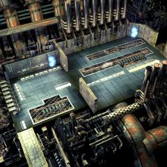 Внутри подводного реактора.