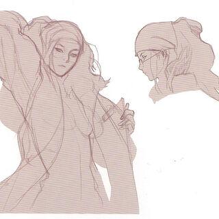 A concept sketch of Arecia.