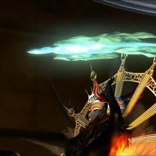 Cut scene in <i>Final Fantasy VIII</i>.