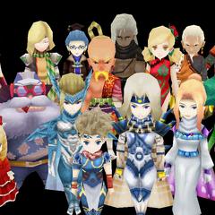 Playable characters (iOS).