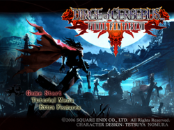 Dirge of cerberus title screen