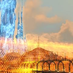 El muro protector del Crystarium.