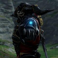 Gaius preparando-se para atirar com seu braço.