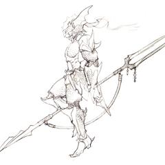 Akira Oguro sketch of Kain (DS).